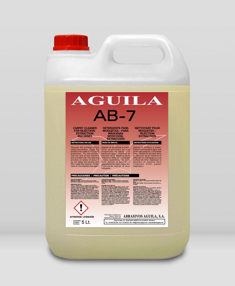 AB-7 Detergente para moquetas – para máquinas inyección-extracción
