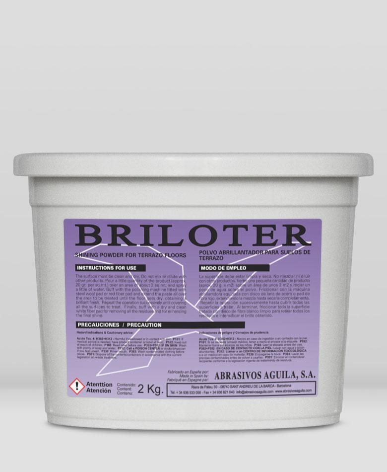 BRILOTER - polvo abrillantador para pavimentos de terrazo