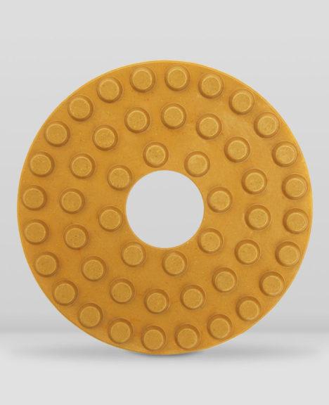 Polishing wheels for radial arm or bridge machines