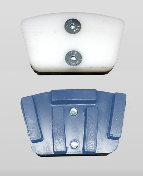 Segments and pads for floor polishing